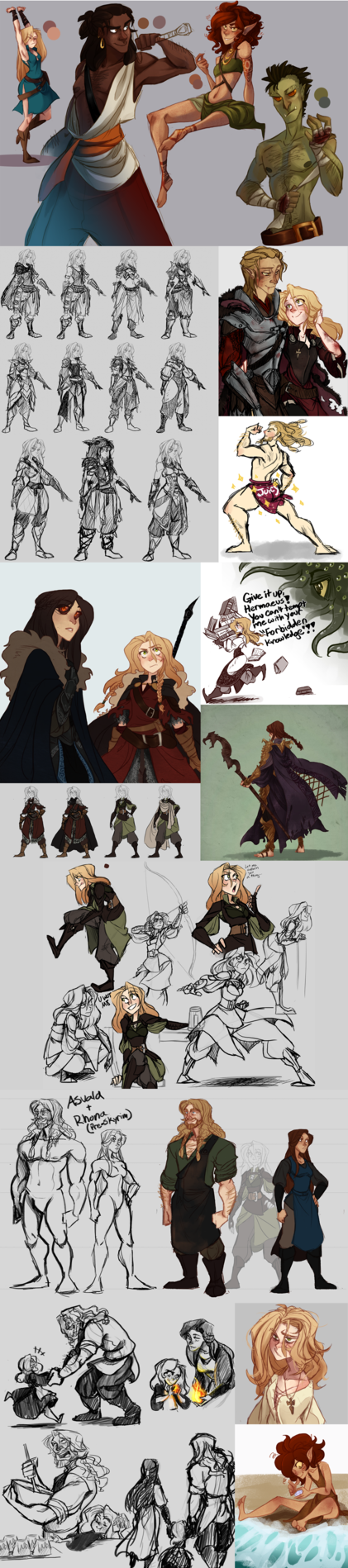 Top 40 Character Design Tips : Skyrimdump by the orator character design pinterest