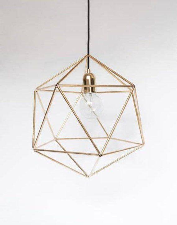 Geometric Brass Lamp Unique Pendant Lamp Minimalist Lamp Gold Pendant Lamp Scandinavian Lamp Design Hanging Lamp Modern Chandelier Gold Lamp Brass Pendant Lamp Geometric Lamp Pendant Lamp