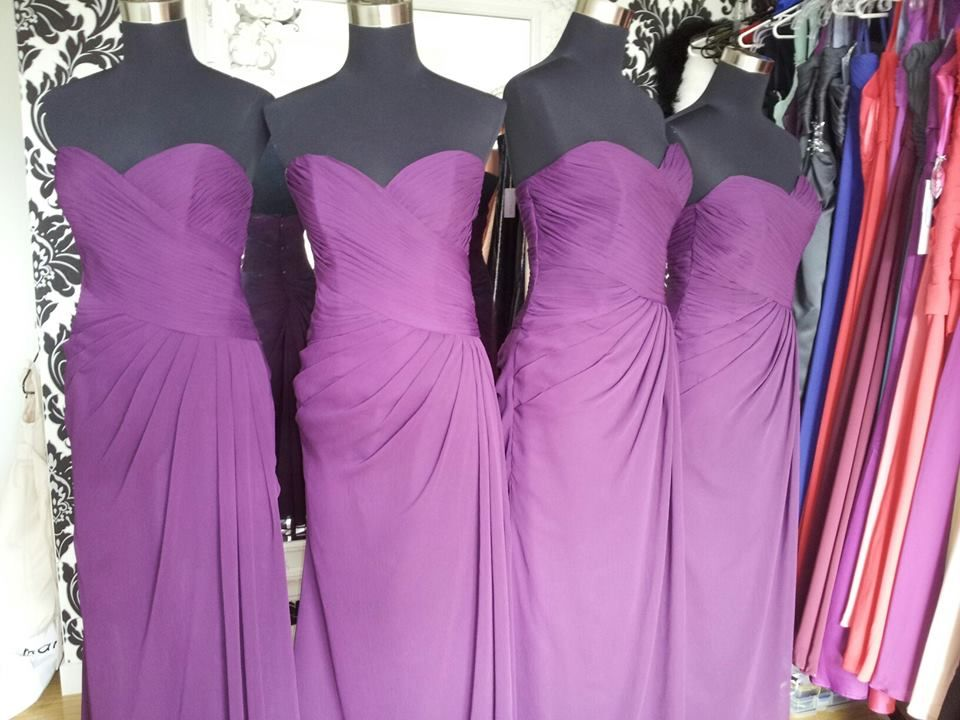 Bridesmaids dresses, ready for collection. Behind the scenes at ...