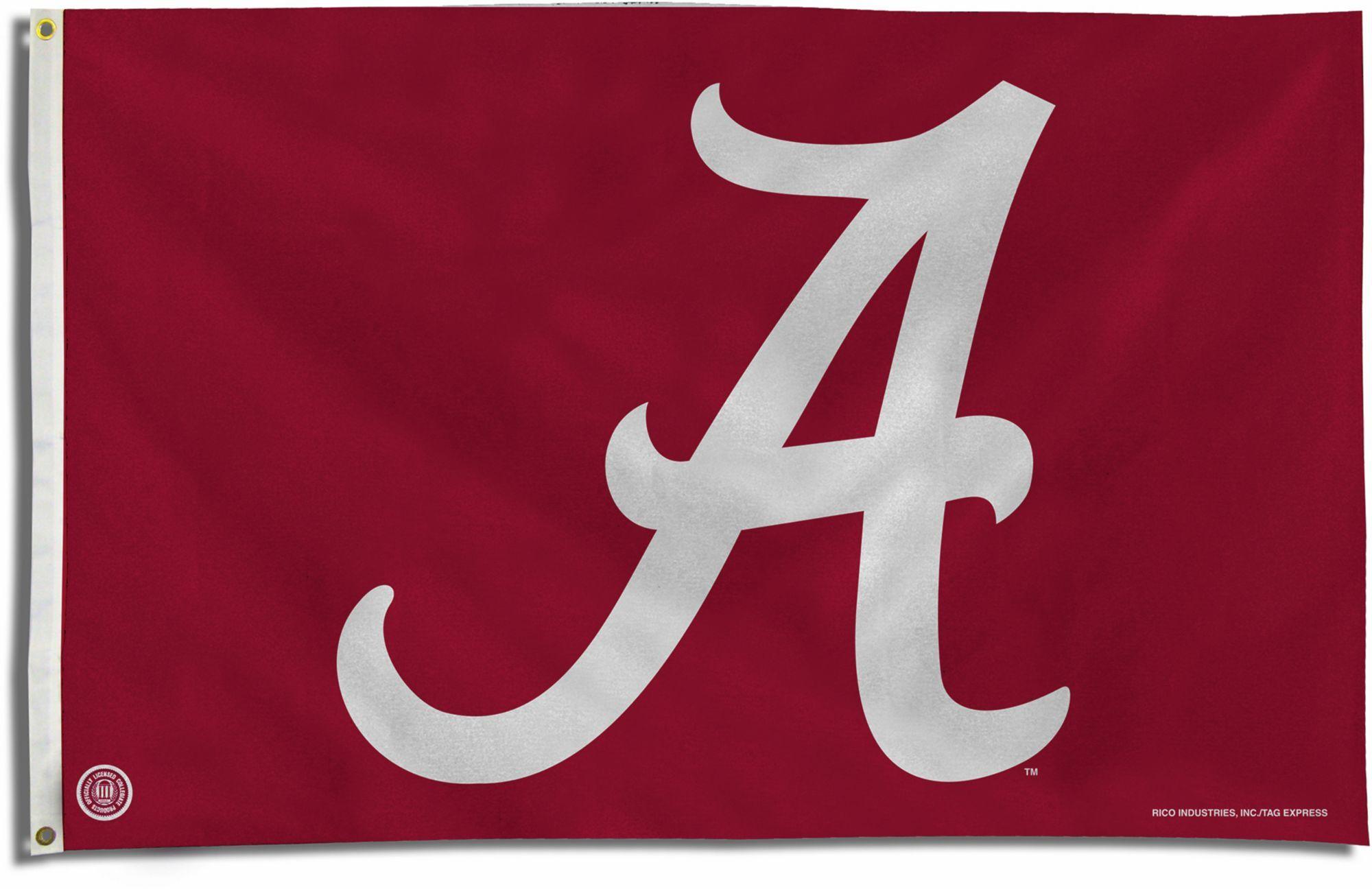 Rico Alabama Crimson Tide Script A œaa Banner Flag Team Alabama Crimson Tide Alabama Crimson Tide Logo Alabama Crimson