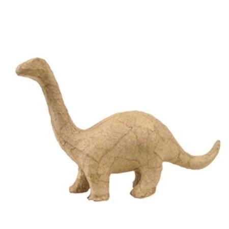 Dinosaure Brontosaure En Papier Maché 17 Cm Sobres De Papel Artesanías De Dinosaurios Animales De Papel Maché