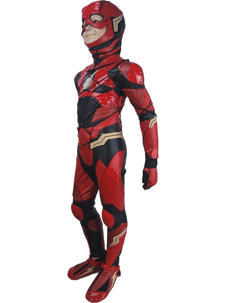 4b62ded3b0f Kids boys The Flash Barry Allen cosplay halloween costume full set DC  Comics Justice League superhero Flash suit outfit xmas birthday gift toys