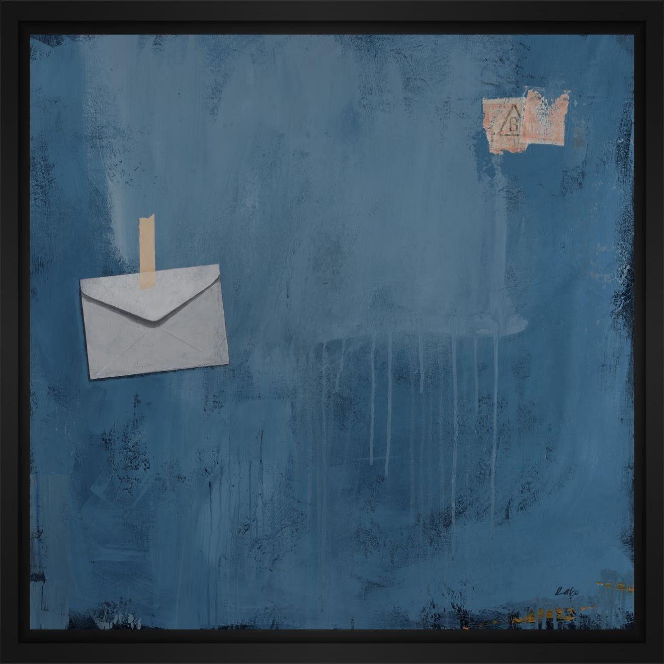Love letter l x h floater framed art giclee wrapped canvas