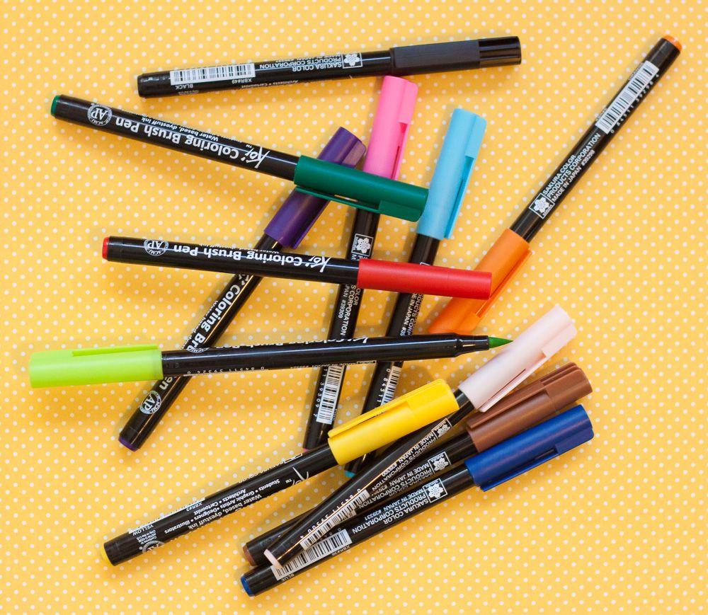 Set 12pcs 12 Colors Sakura Koi Watercolor Brush Pens For