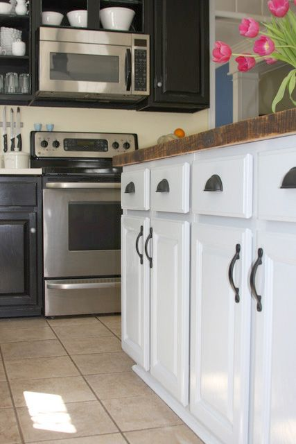Black Kitchen Cabinet Makeover Black Kitchen Cabinets Kitchen