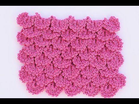 Variante punto cocodrilo a crochet - YouTube | Crochet: Esquemas ...