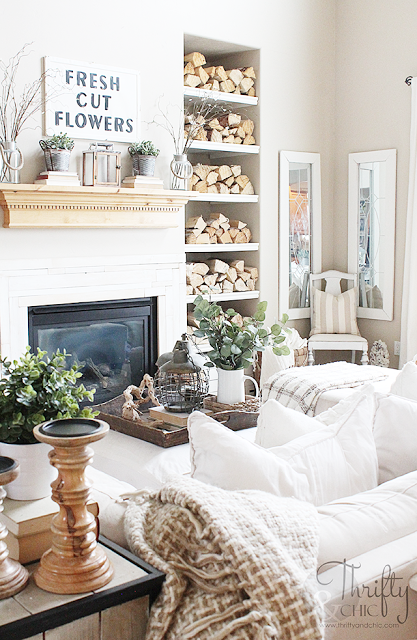 o Spring Home Tour Part 2 | Modern farmhouse living room decor ... on small cabin living room designs, small townhouse living room designs, small traditional living room designs,