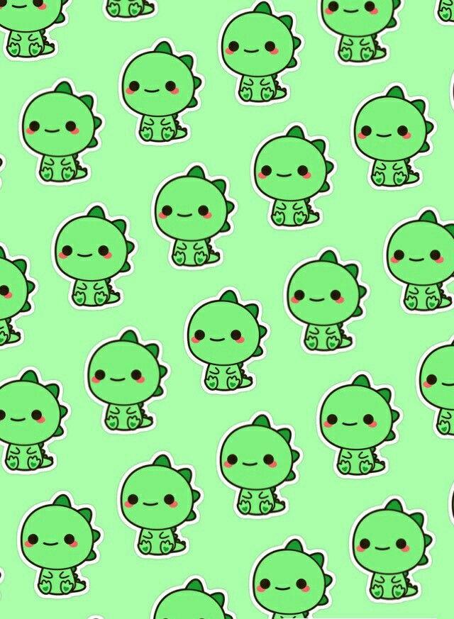 Pattern kawaii dinosaur | Kawaii dinosaur, Wallpaper ...