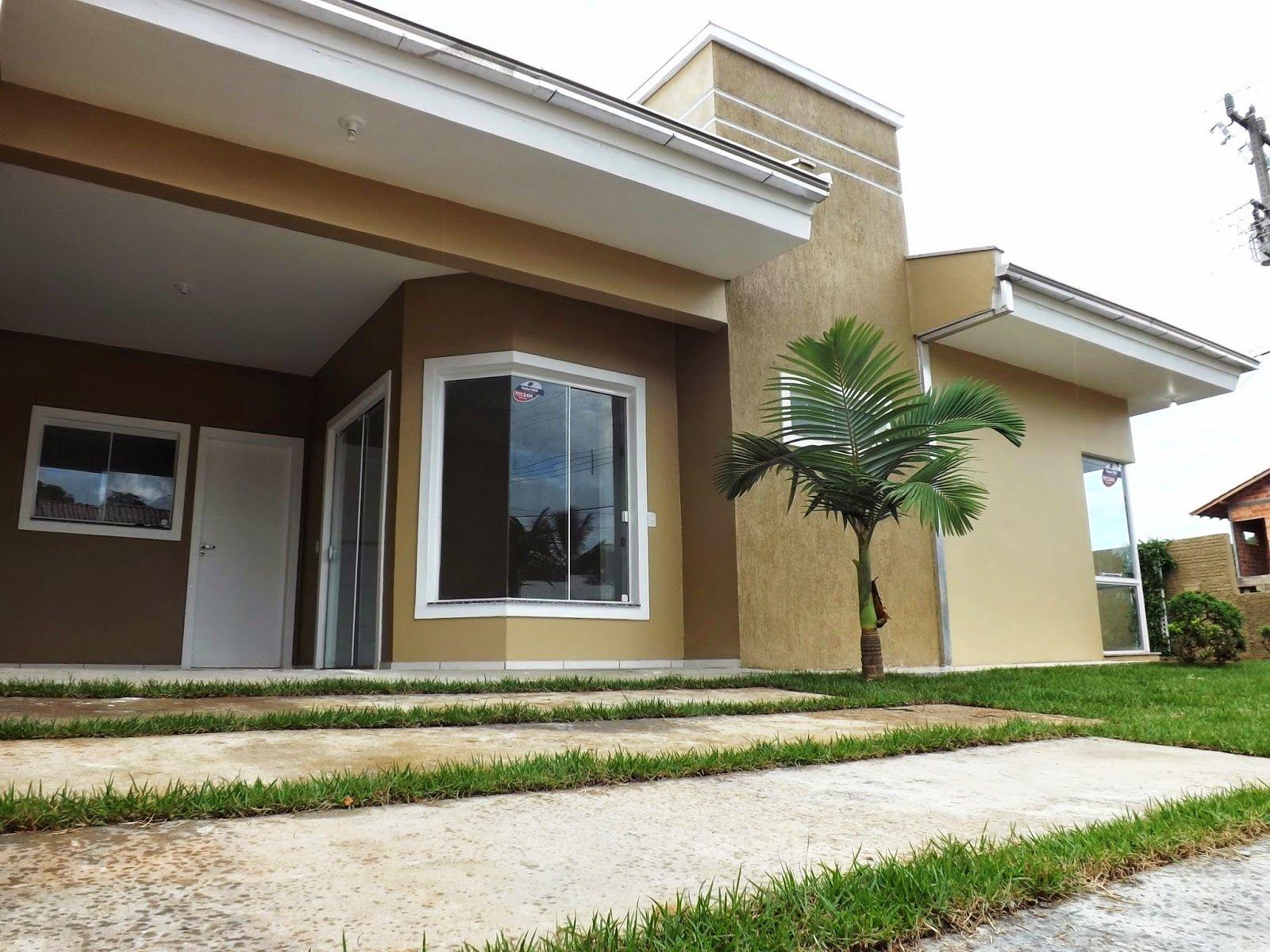 Casa com fachadas pintadas com textura pesquisa google - Fachadas de casas pintadas ...