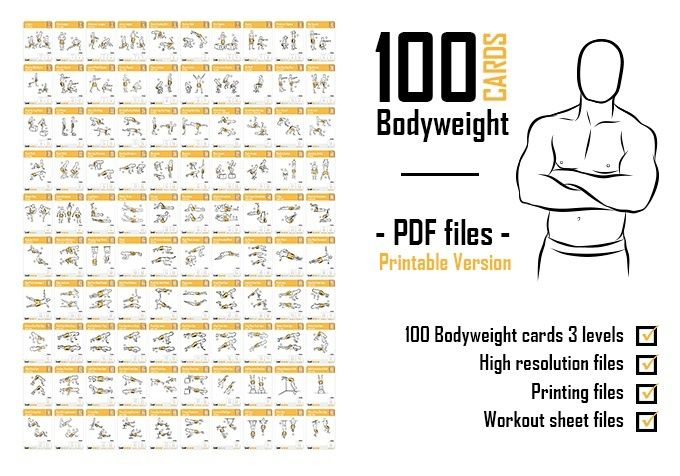 Astounding image regarding printable exercise cards