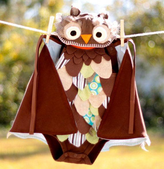 Owl Costume 6-9mo, 9-12mo, 12-18mo Halloween ideas - 18 month halloween costume ideas