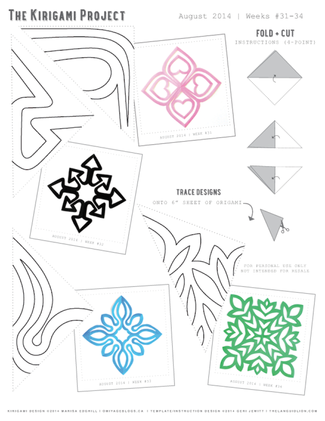 omiyage blogs the kirigami project august templates
