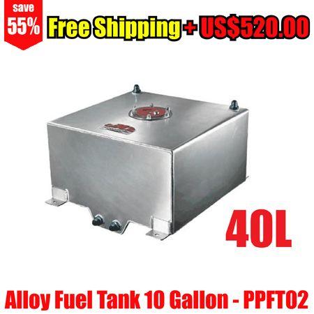 Alloy Fuel Tank 10 Gallon w/ Sender Racing Cap FOAM 40L 40 Litre for