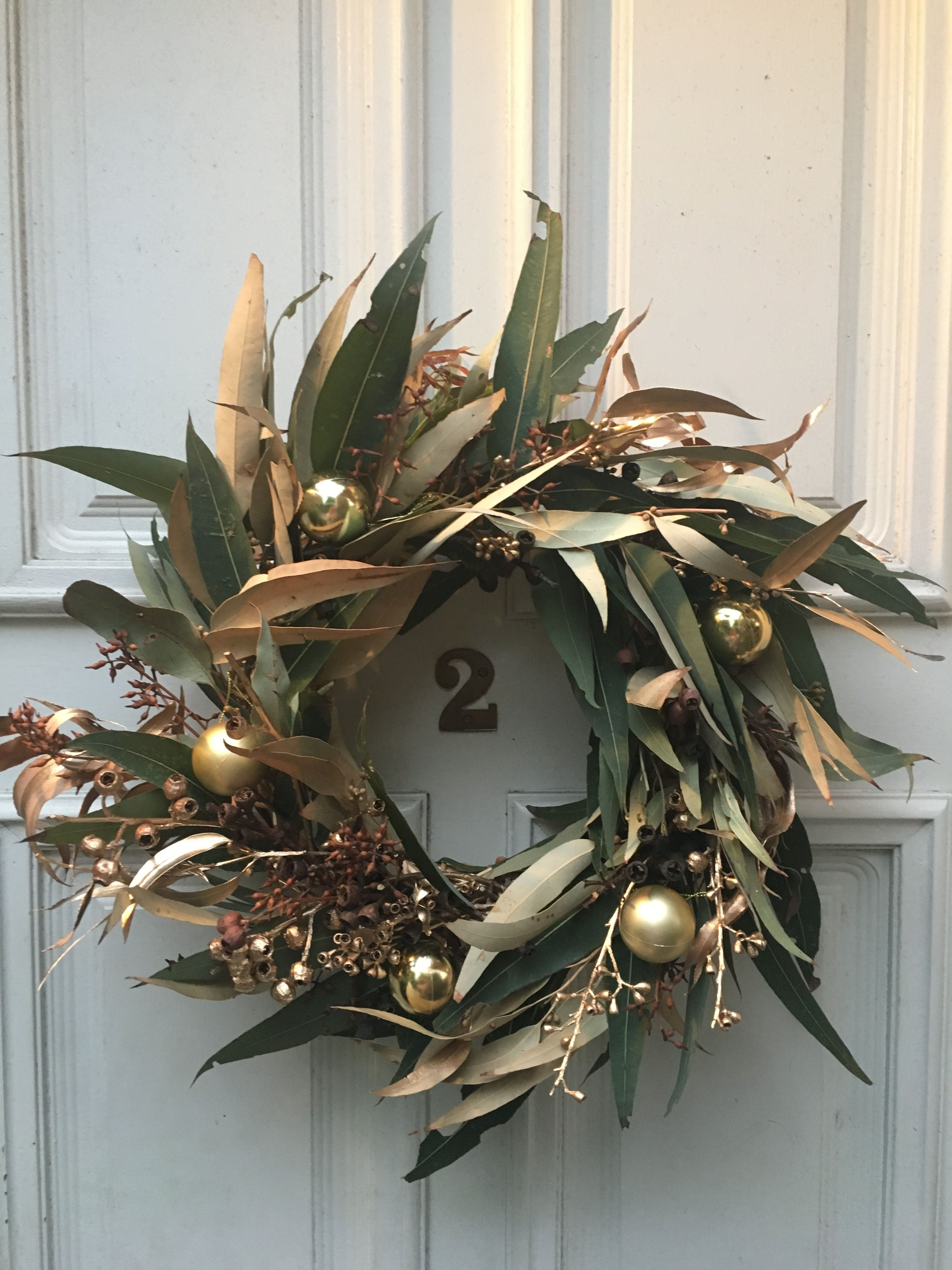 Aussie christmas wreath australian eucalyptus