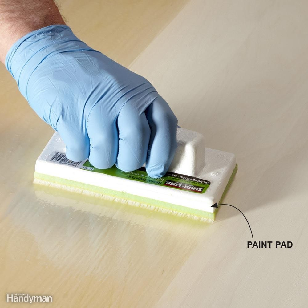 Tips For Using Water Based Varnish Staining Wood Paint Pads Painting Furniture Diy