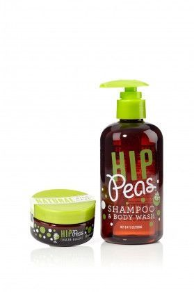 Hip Peas Hair Styling Balm & Shampoo and Body Wash 2oz / 8.4oz