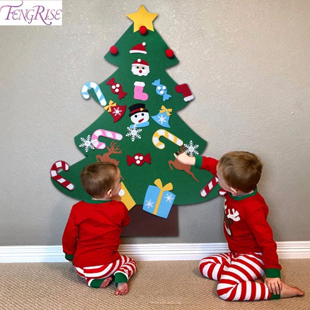 New Year Gifts Kids DIY Felt Christmas Tree Decorations Christmas Gifts 2019