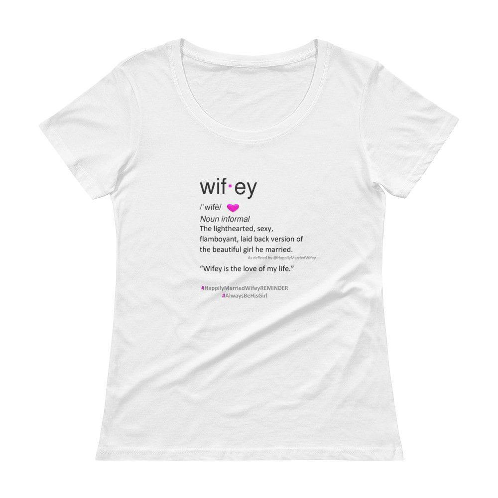 Wifey Definition Ladiesu0027 Plus Size Scoopneck T Shirt