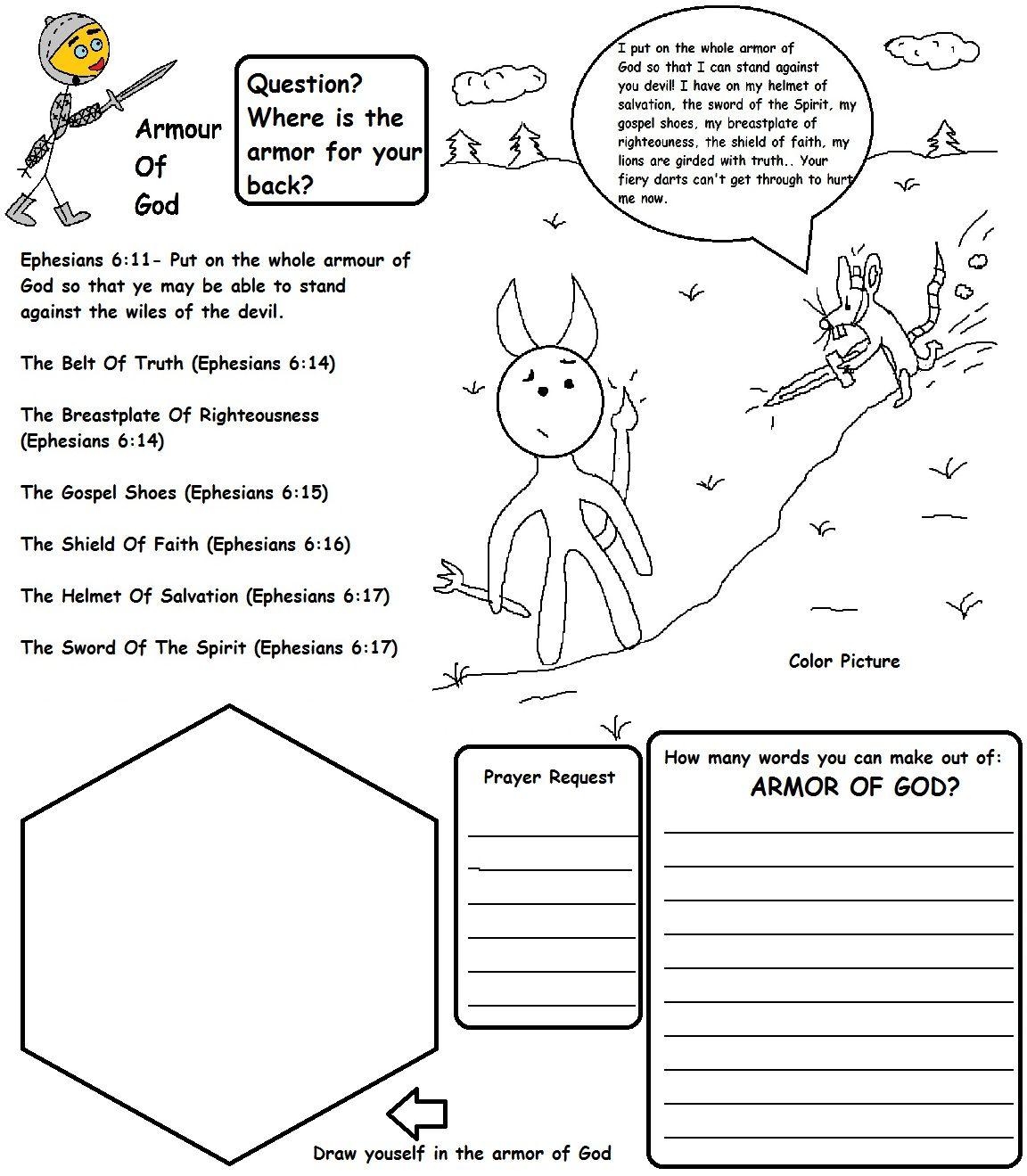 48+ Armor of god worksheets pdf Online
