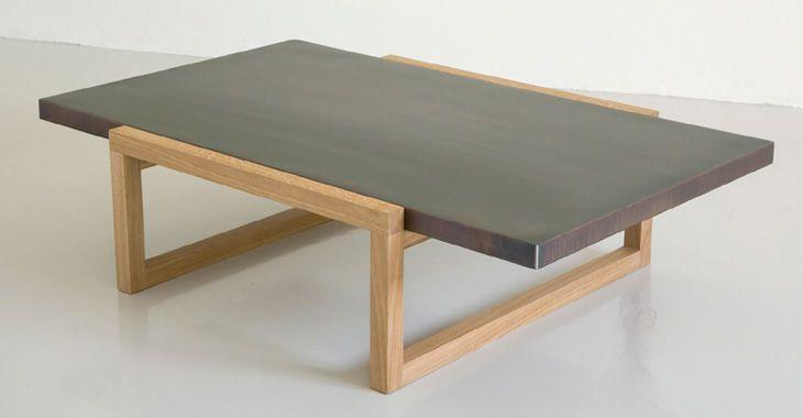 mesa de centro moderna de madera maciza certificada (etiqueta ...