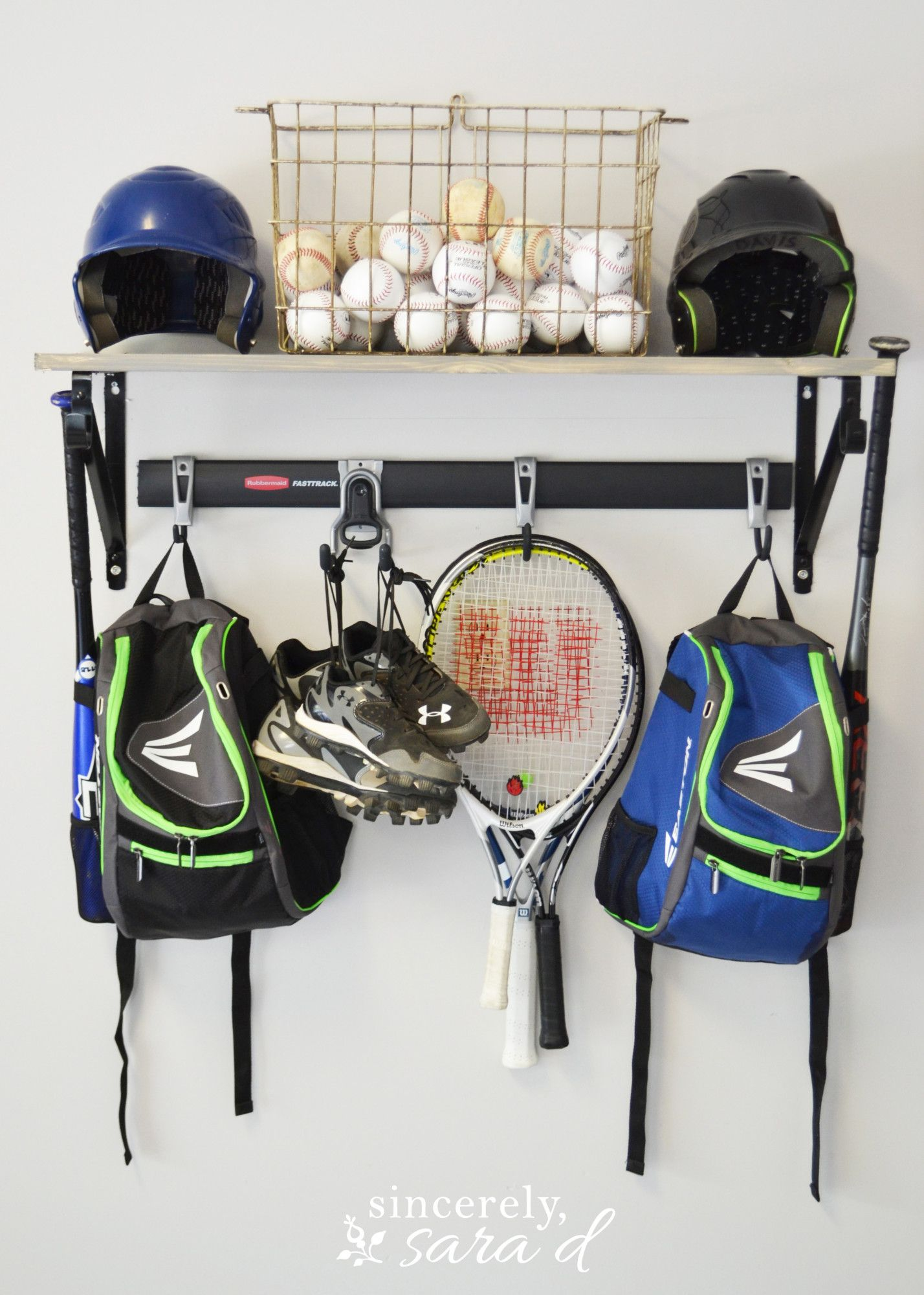 Easy Diy Sports Equipment Organizer Includes Several Tutorials