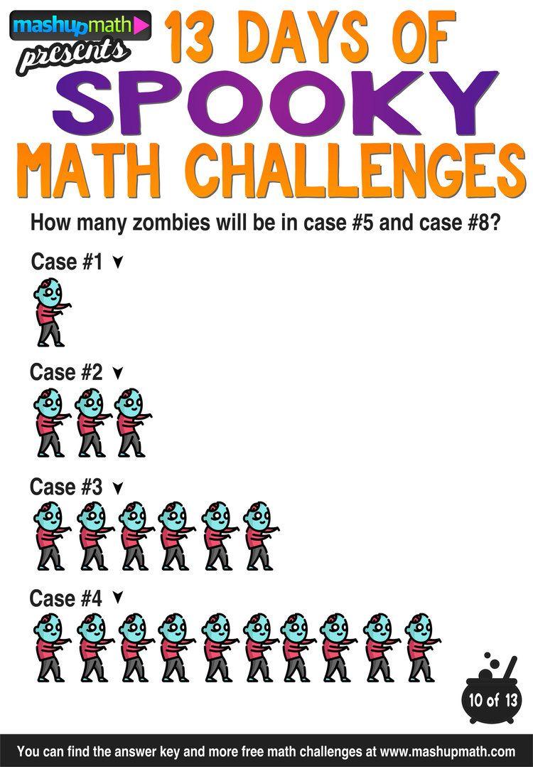 Halloween Math 13 Days Of Spooky Math Challenges For Grades 1 8 Mashup Math Math Challenge Halloween Math Worksheets Halloween Math [ 1078 x 750 Pixel ]