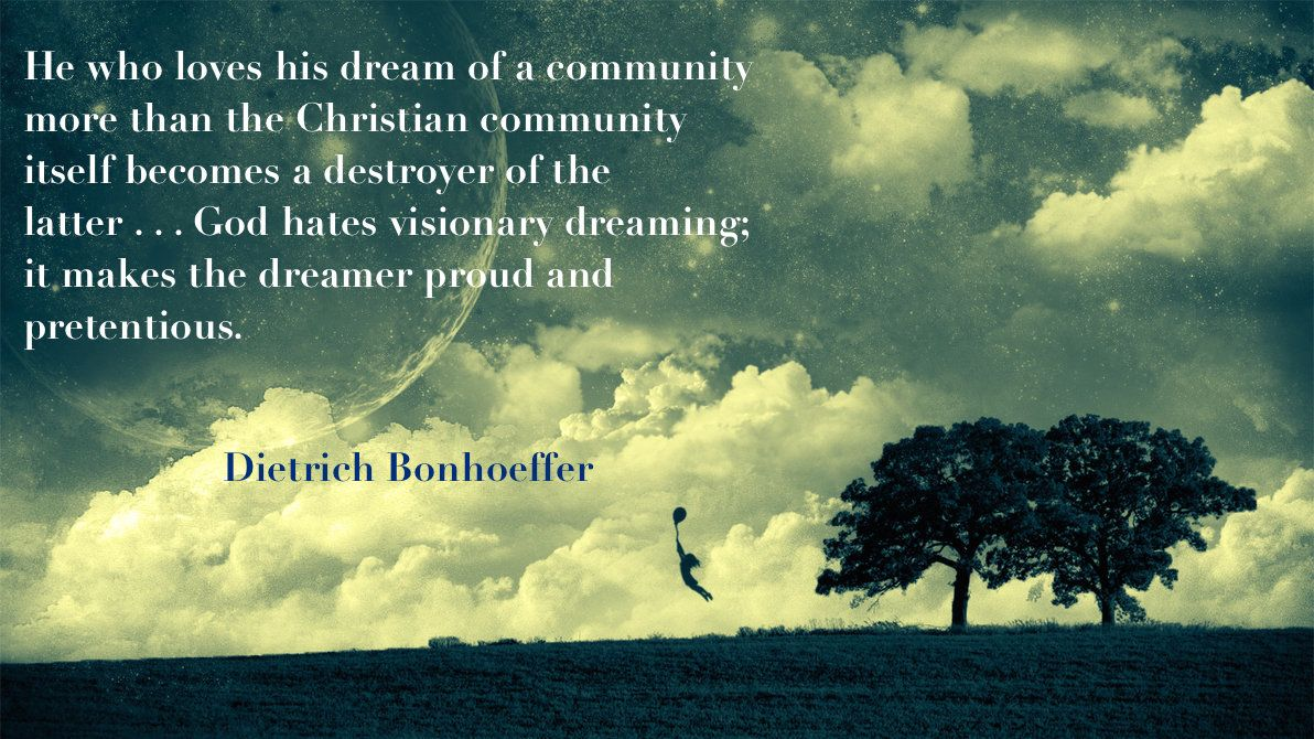 Dietrich Bonhoeffer Quote, Life Together, Christian