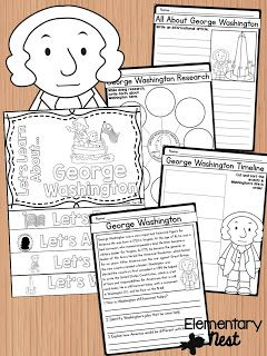 George Washington Biography February Activities And FREEBIES For Primary Students Reading