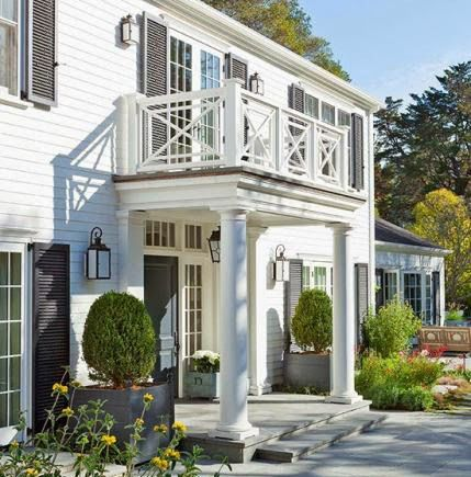 Side Porch Railing Beautiful Georgian Revival Dream Home Also Best Railings  Images On Pinterest Banisters Arquitetura