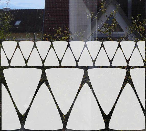 Minimal Film for Privacy, Geometric Privacy Decal for Bathroom - folie für badezimmerfenster