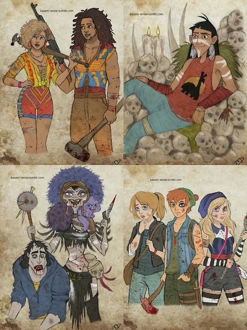 "muzqueenofdisney:  I don't know about everyone else, but I think these need way more publicity.  THEY ARE SO COOL. They were made by Kasami-Sensei, and are called ""The Walking Disney"""