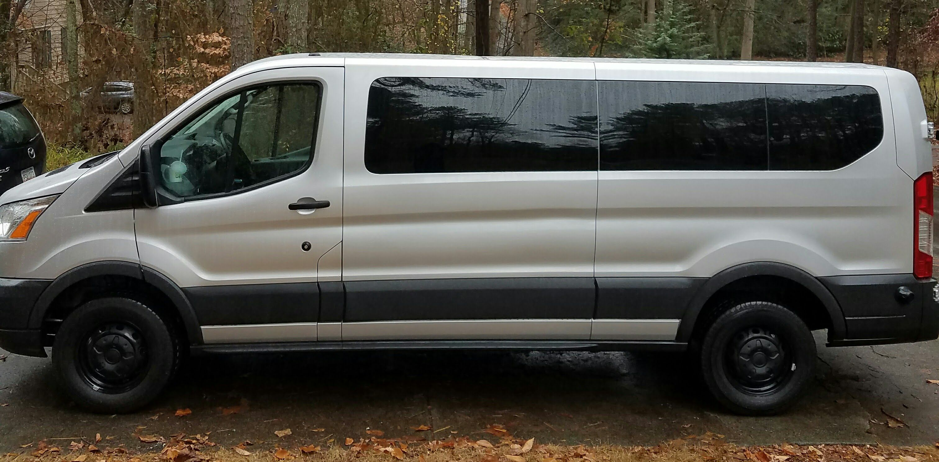 2016 ford transit 350 xlt with black hubcaps