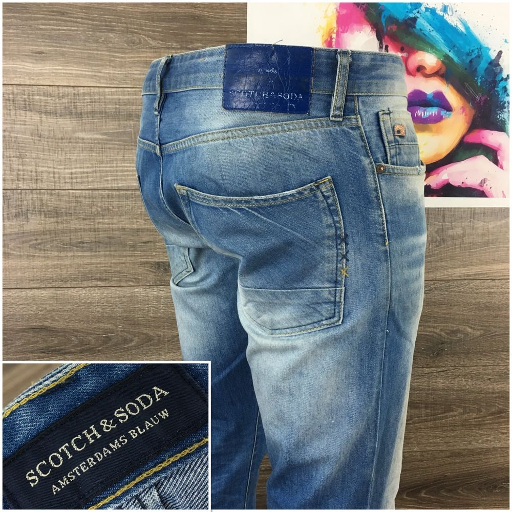 Men S Ralston Scrape And Shift Denim Jeans In Light Blue Denim Jeans Denim Jeans