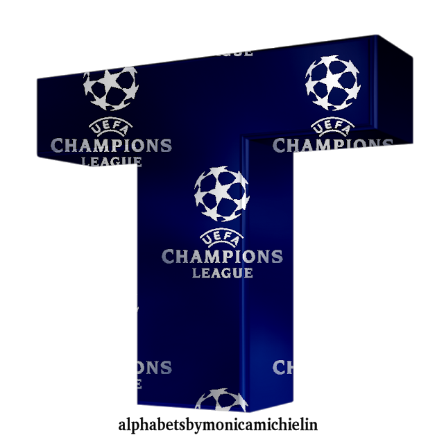 Monica Michielin Alfabetos Uefa Champions League Football Alphabet Letters And Numbers Png Champions League Football Uefa Champions League Champions League