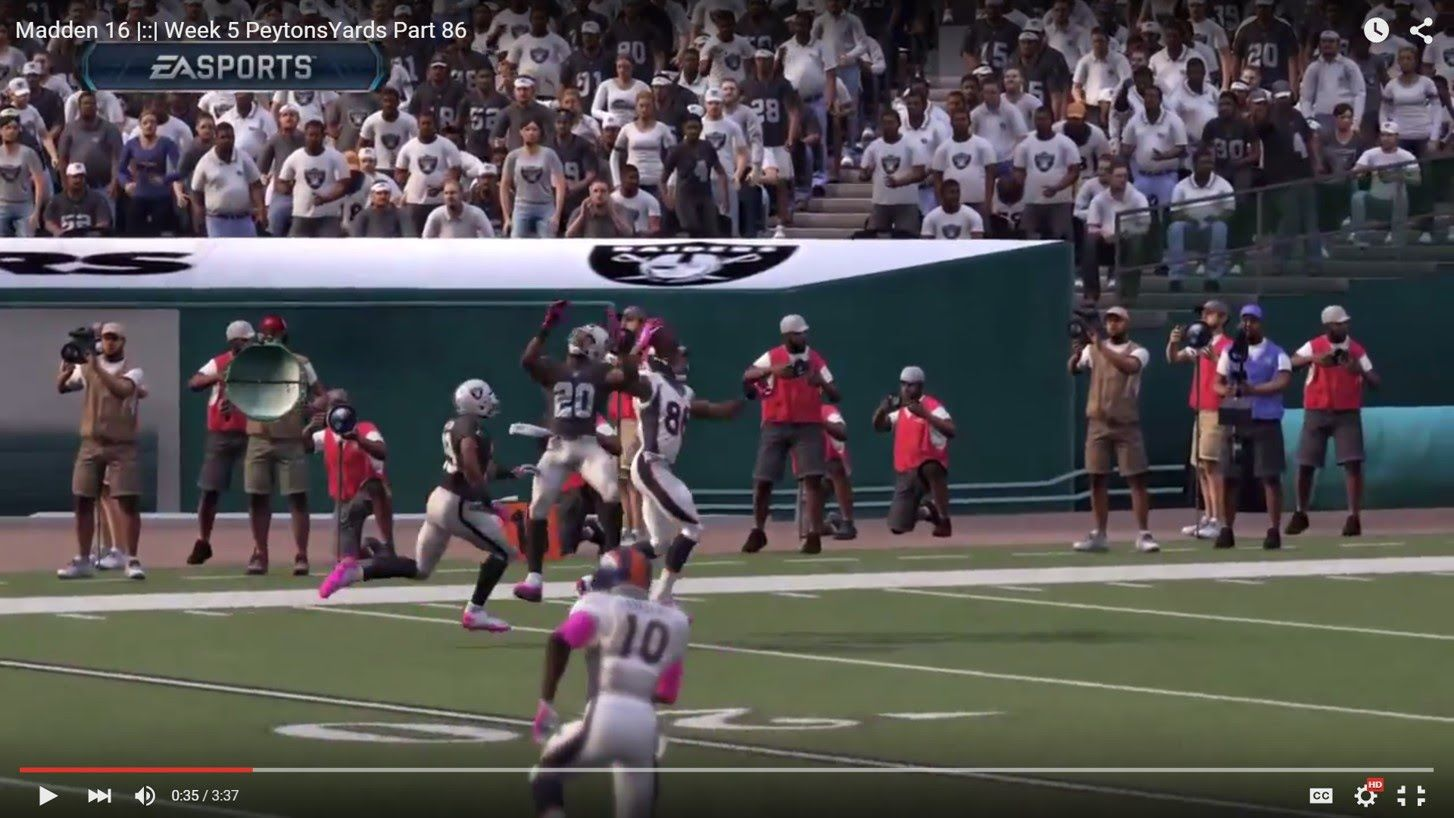 Madden 16 |::| Week 5 PeytonsYards Part 86 D Thomas One Handed Catch