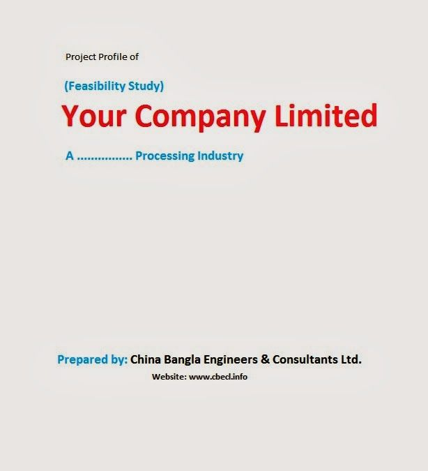 Project Profile And Feasibility Study Profile Study Bank Loan