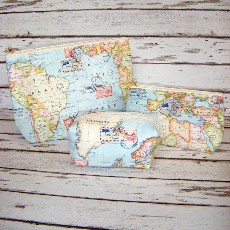 World map travel gift makeup toiletry wash bag travel makeup wash world map travel makeup cosmetic toiletry wash bag gumiabroncs Gallery