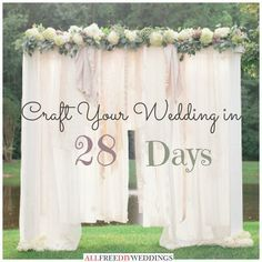 National Wedding Month Craft Your In 28 Days Diy BackdropBackdrop IdeasWedding