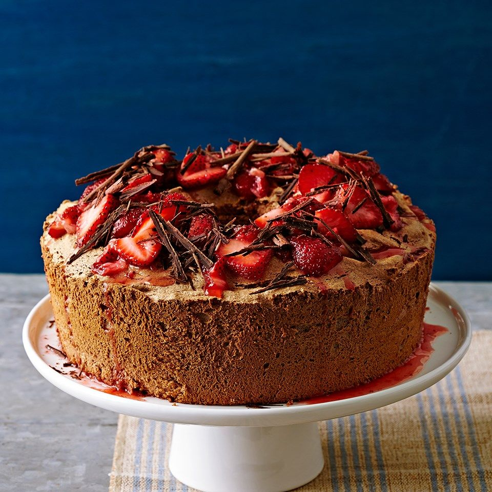 Chocolate covered strawberry angel food cake recipe