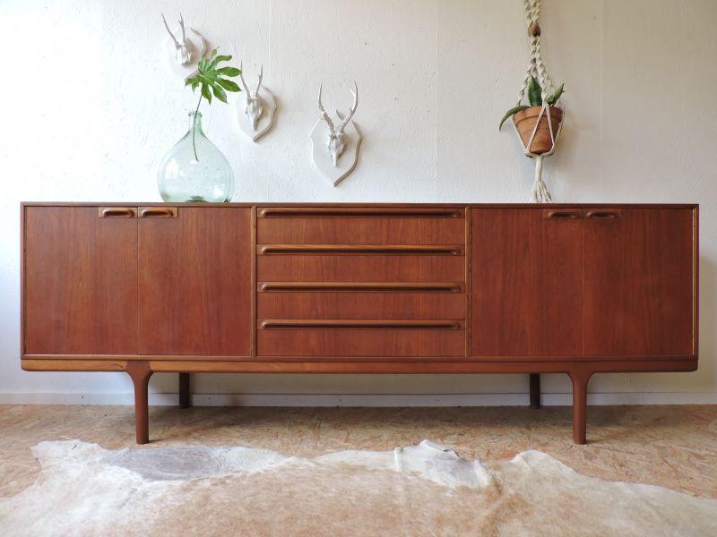 enfilade teck mcintosh ann es 60 c te et vintage pinterest enfilade teck et ann es 60. Black Bedroom Furniture Sets. Home Design Ideas