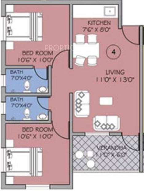 Goka Engineering Gold Valley Apartment 2bhk 2t 600 Sq Ft 600 Sq Ft 2bhk House Plan Apartment Floor Plan Apartment Floor Plans