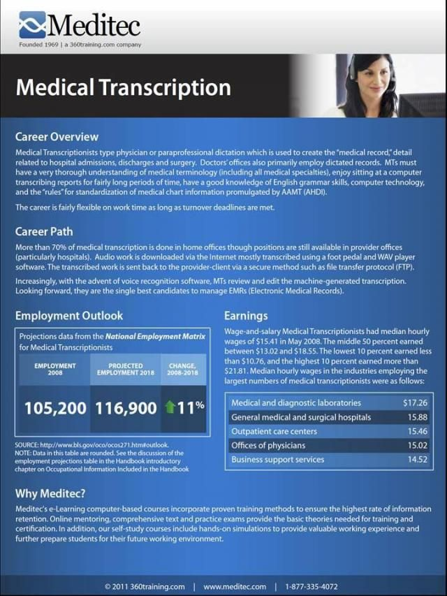 Medical Transcription Course Info Career Pinterest Medical