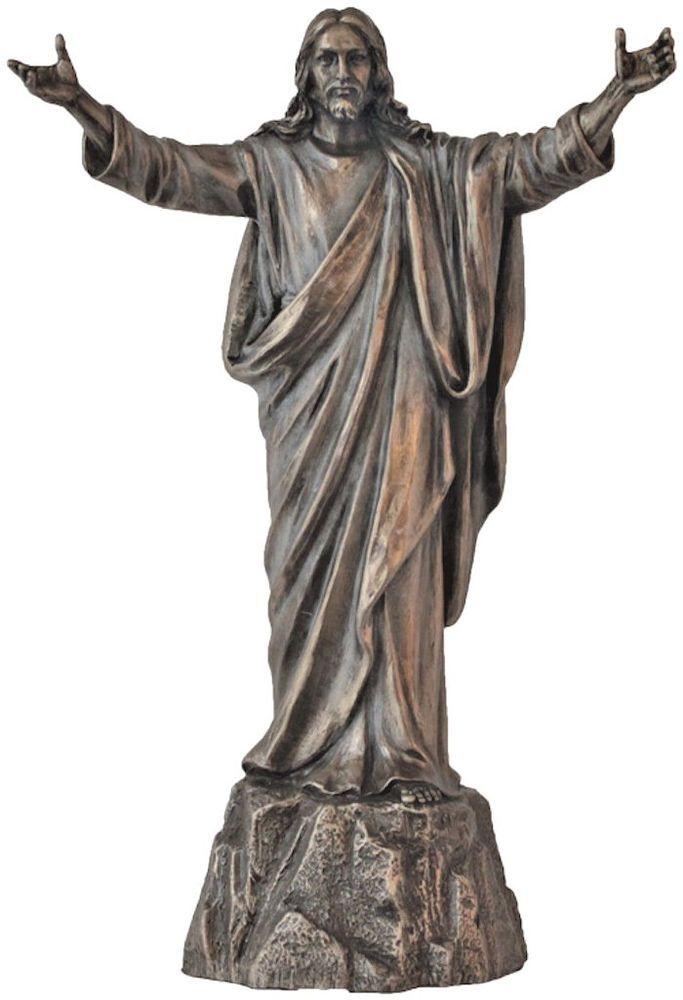 Jesus Christ Statue Risen Welcoming and Forgiving Christian ...