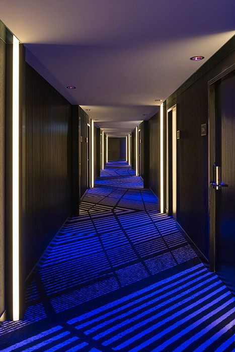 Rgb Recessed Leds Make For A Cool Effect In This Hallway Light Art Truline By Pure
