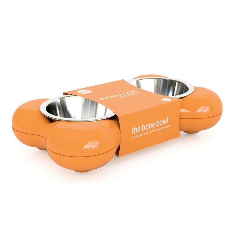 The Bone Bowl by Hing- Orange. #Dogbowl #Bone