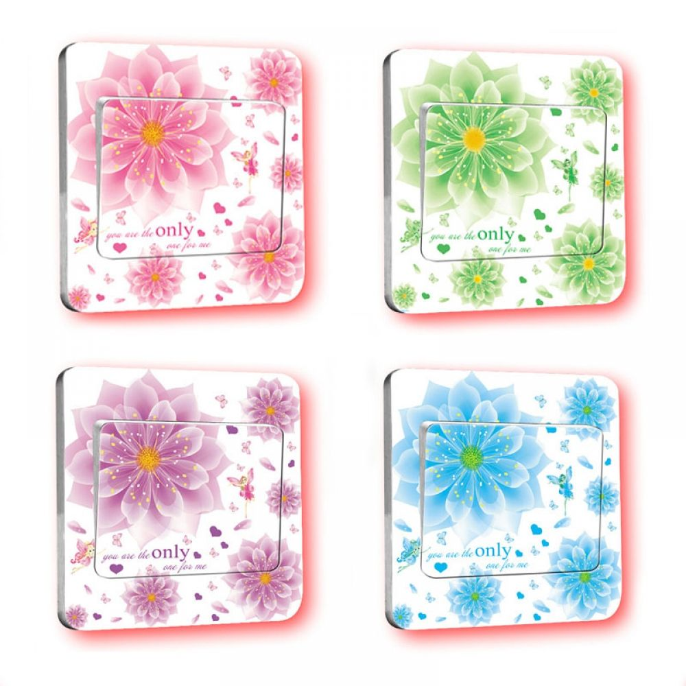1 pc Floral Light Switch Wall Stickers Price 7.95 & FREE