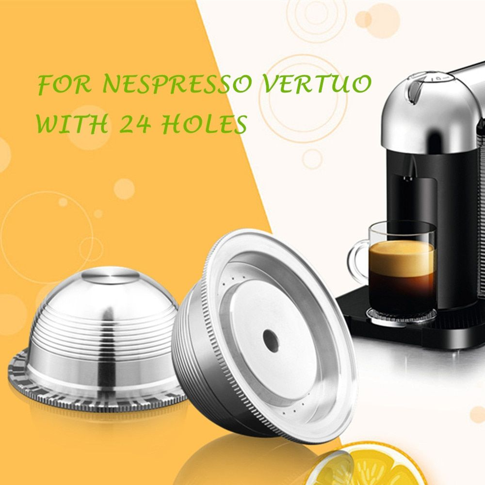 Coffee Filters For Nespresso Vertuo Vertuoline Plus Delonghi Env150 Stainless Steel Refillable Reusable Capsule Pod Discount 3 In 2020 Coffee Guide Coffee Nespresso