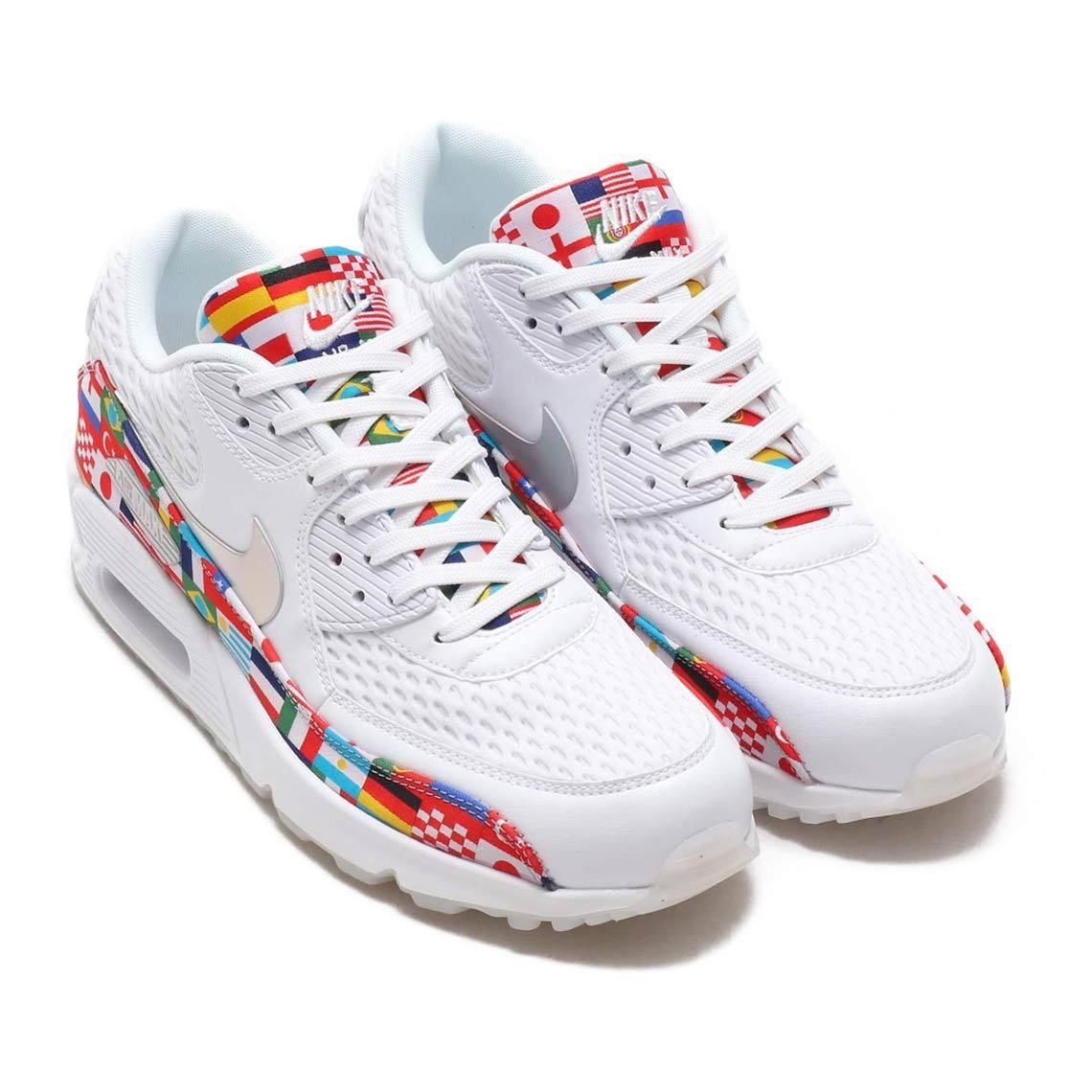 newest 1f371 ad213 2018 Nike Air Max 90 NIC QS SZ 10.5 One World Cup International Flag  AO5119-100 Discount Price 179.99 Free Shipping Buy it Now