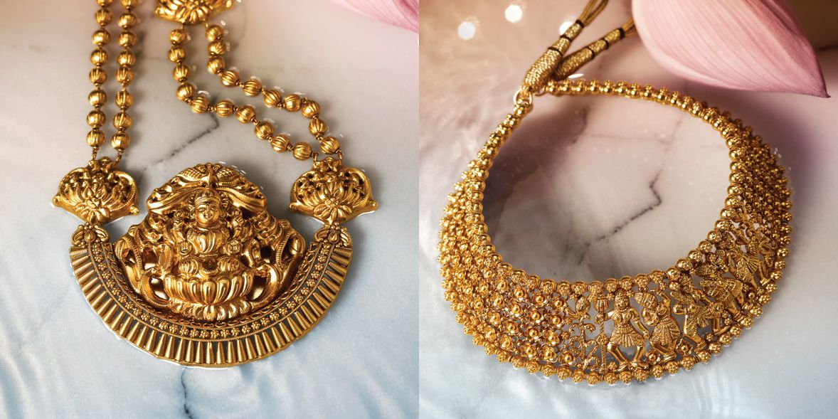 Divyam Gold Temple Jewellery Gold Jewellery Design Temple