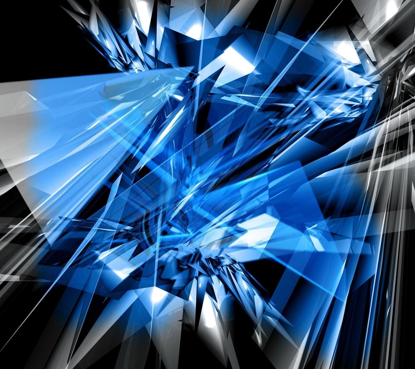 Cool Blue Wallpaper, Abstract, Blue Abstract